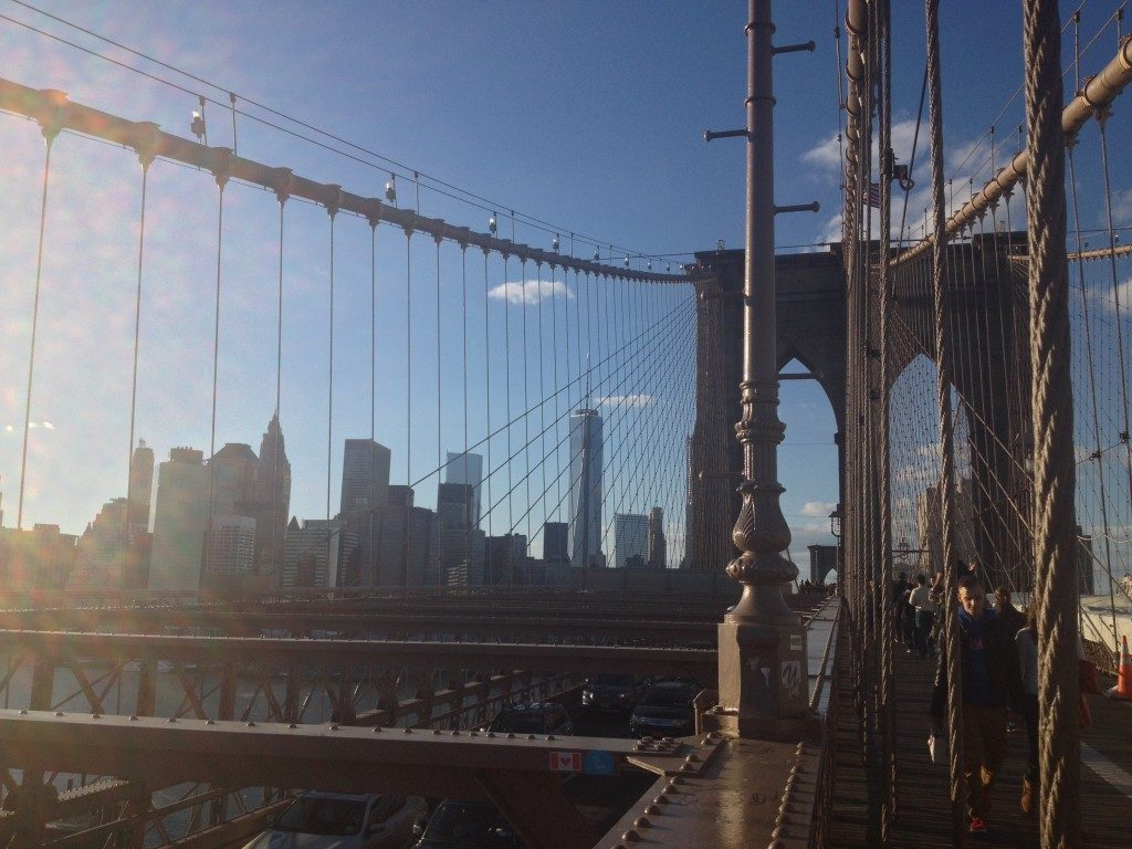Tramonto sul Brooklyn Bridge