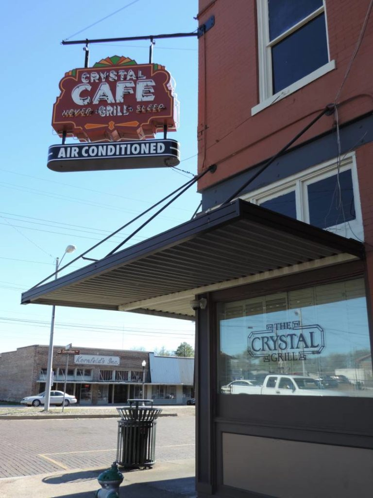 Crystal Cafè, Greenwood. Where you can eat Minnie's chocolate pie