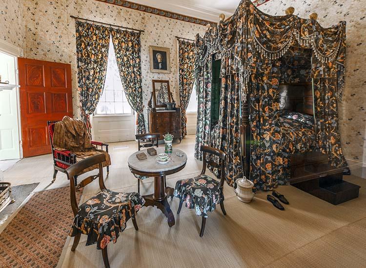 La camera da letto del presidente Andrew Jackson (ph. credits thehermitage.com)