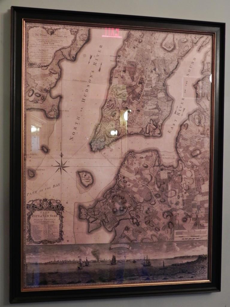 La più antica mappa di New York del 1770