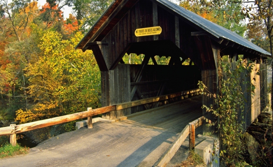 New England on the road: Vermont, Gold Brook Bridge