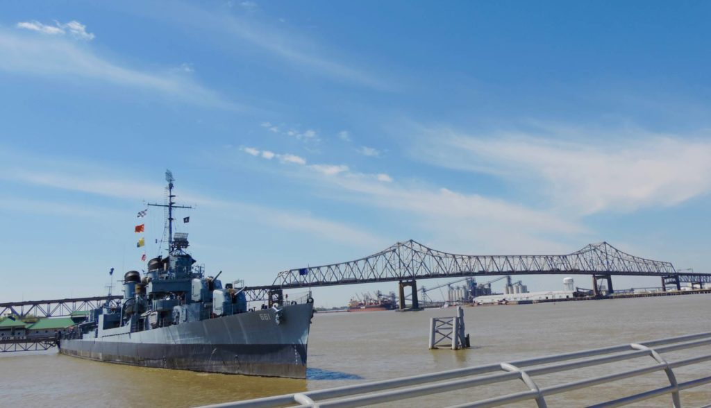 Visit Baton Rouge: the USS Kidd and the Mississippi River
