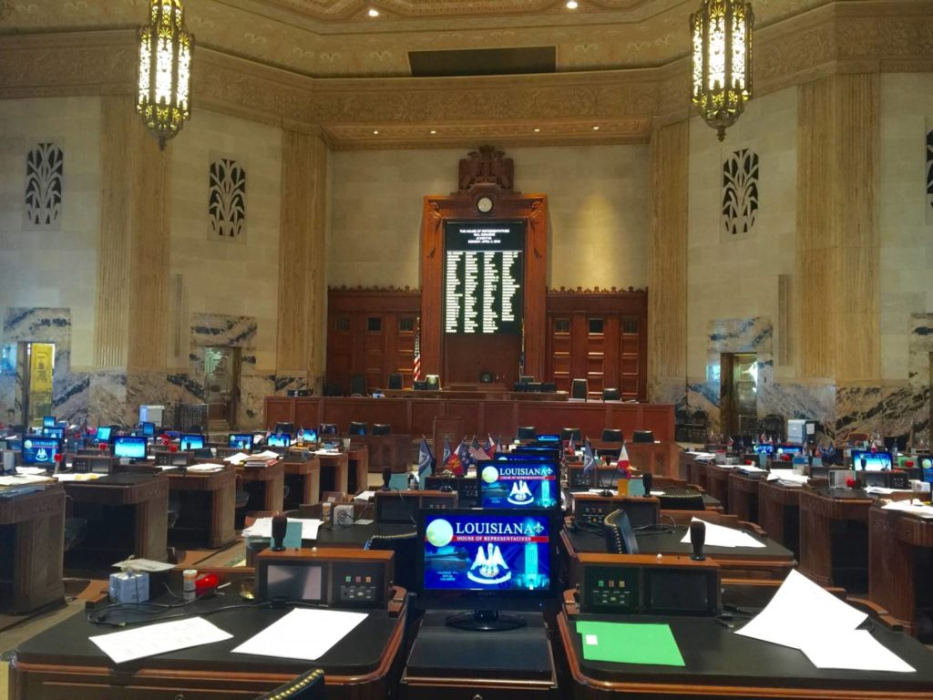 Louisiana State Capitol, the room where the Governor and the representatives of Louisiana meet