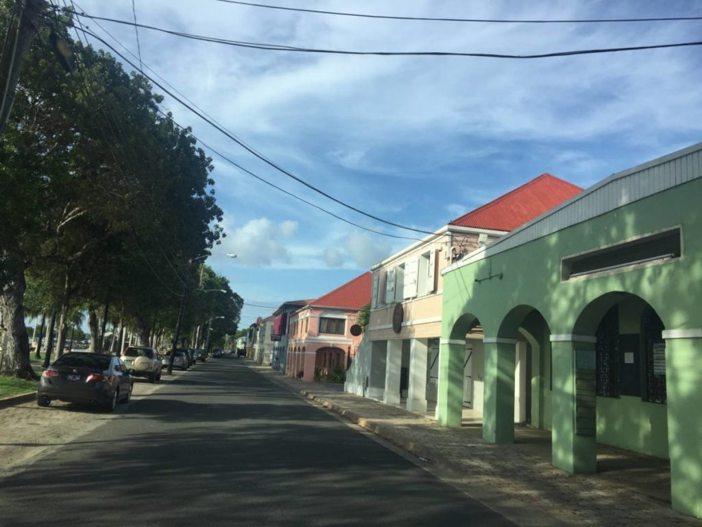 Visit the US Virgin Islands: colonial buildings in Fredericksted