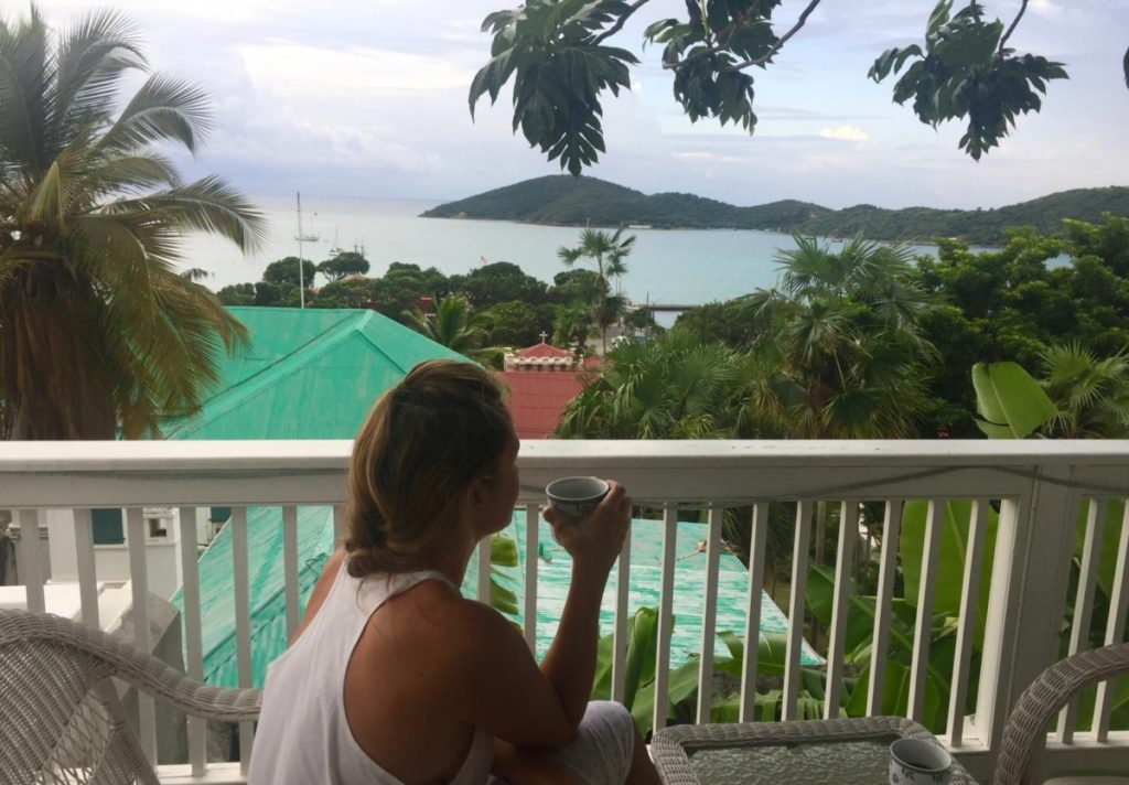 Visitare le US Virgin Islands: St. Thomas, camera con vista su Charlotte Amalie