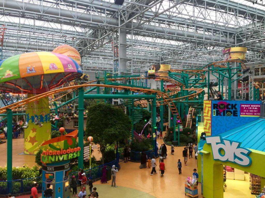 Mall of America, il parco giochi coperto del Nickelodeon Universe