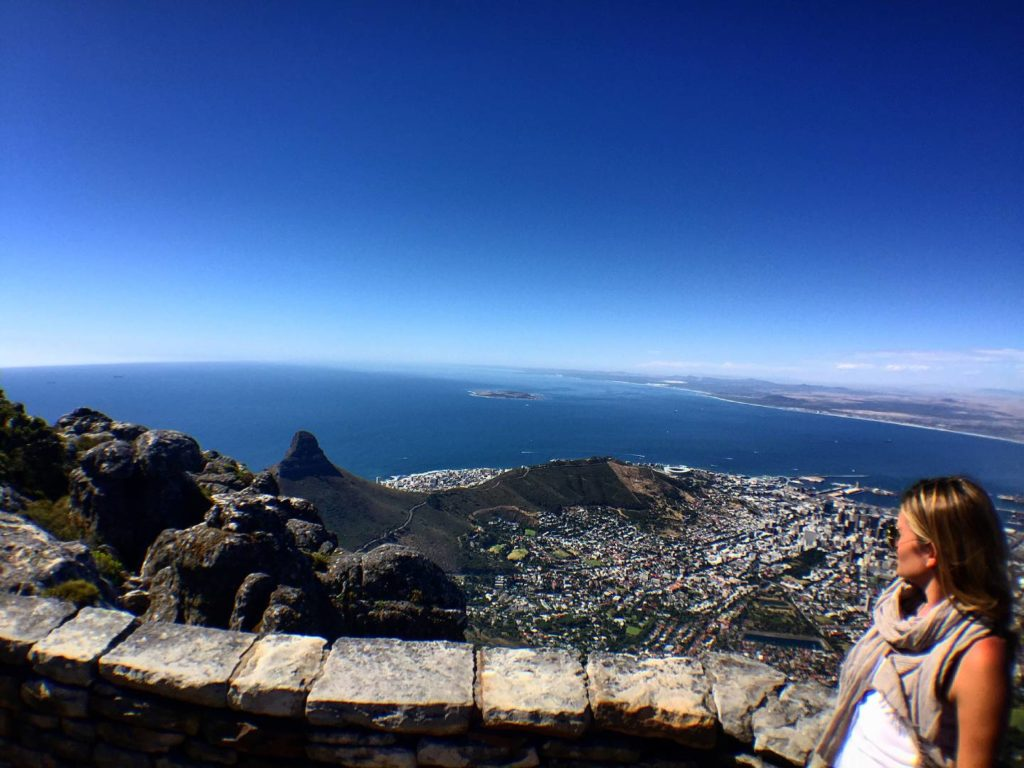 Vista su Cape Town dalla Table Mountain