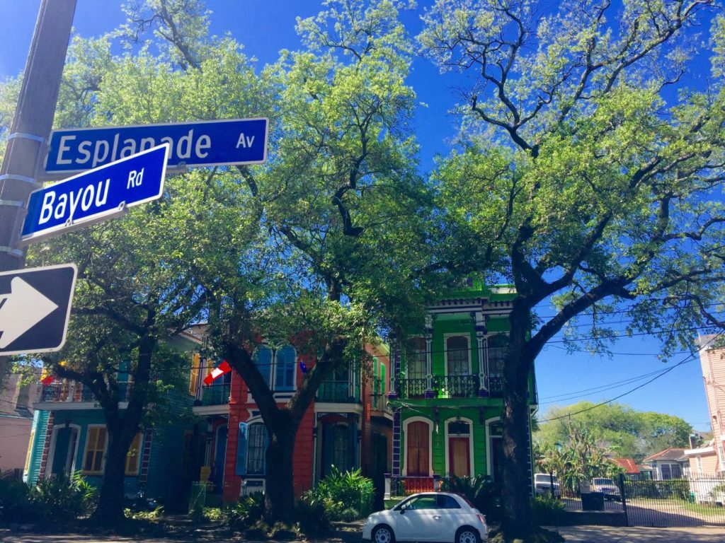 USA on the Road: New Orleans, across Esplanade Ave to City Park