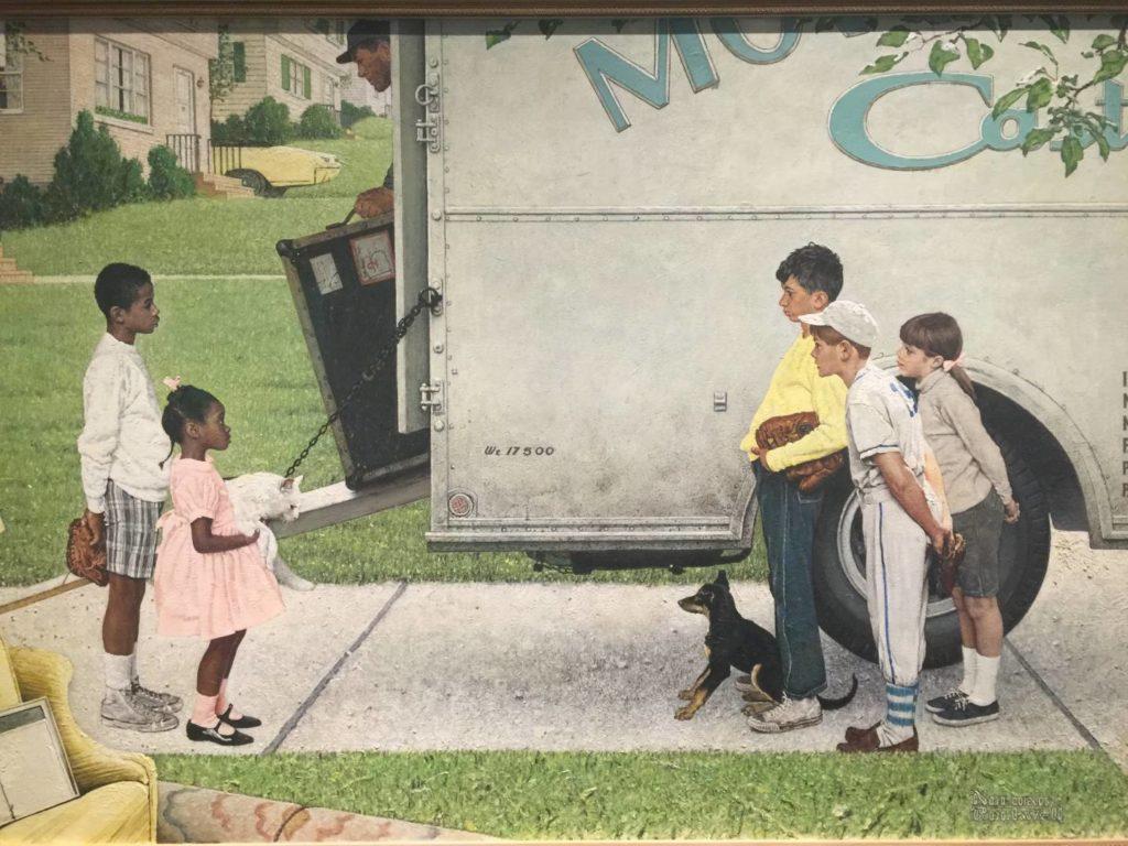 New Kids in the Neighborhood, Norman Rockwell. Nei suoi quadri il suo impegno contro la segregazione razziale.