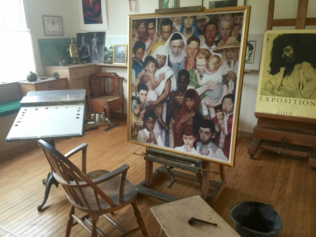 Norman Rockwell's workshop, inside
