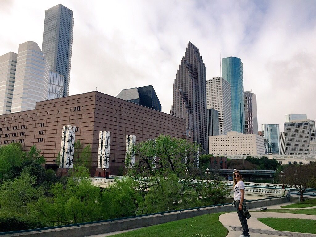 Houston, vista dal Sesquicentennial Park