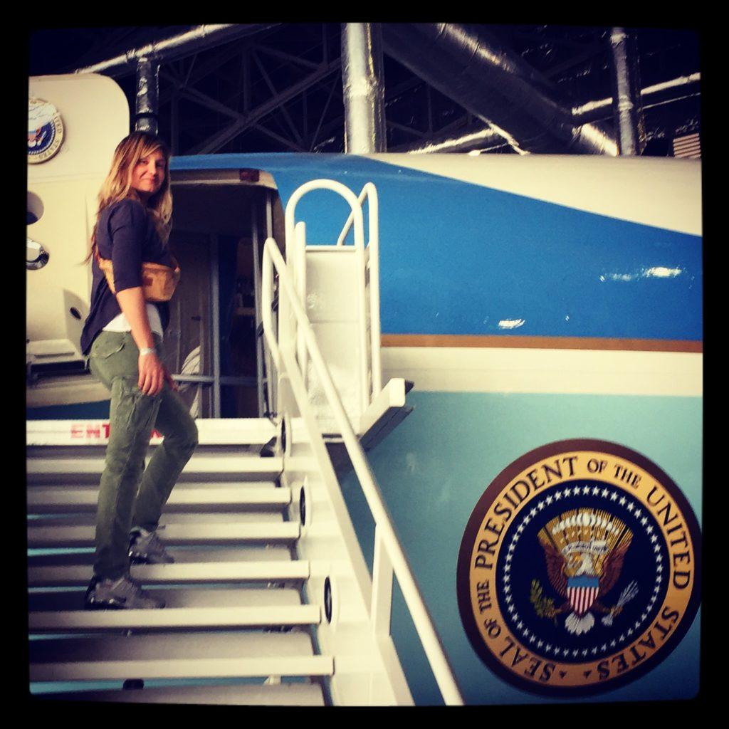 A bordo dell'Air Force One di JFK, Dayton, Ohio