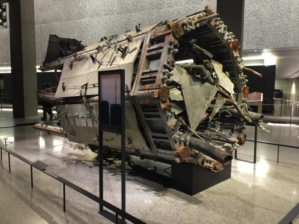 Visit the 9/ 11 Memorial Museum: what remains of one of the Twin Towers' aerial