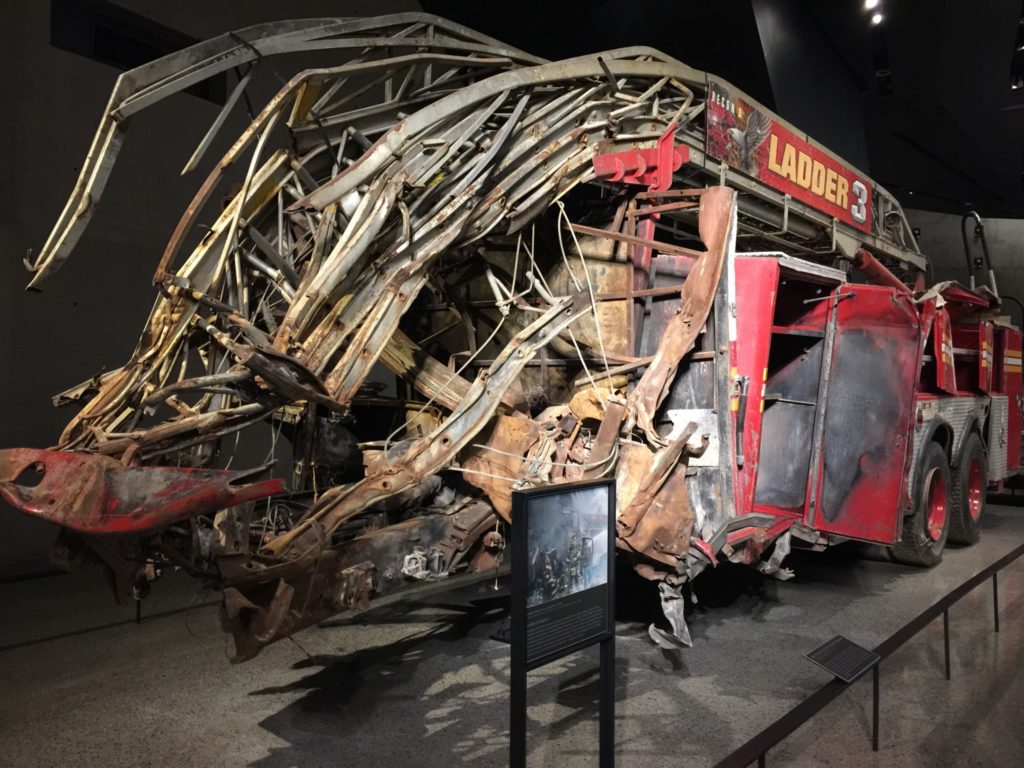 Visit the 9/ 11 Memorial Museum: what remains of the NY Firemen Ladder Company 3