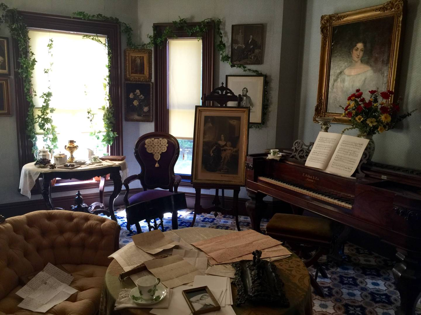Inside Harriet Beecher Stowe's house