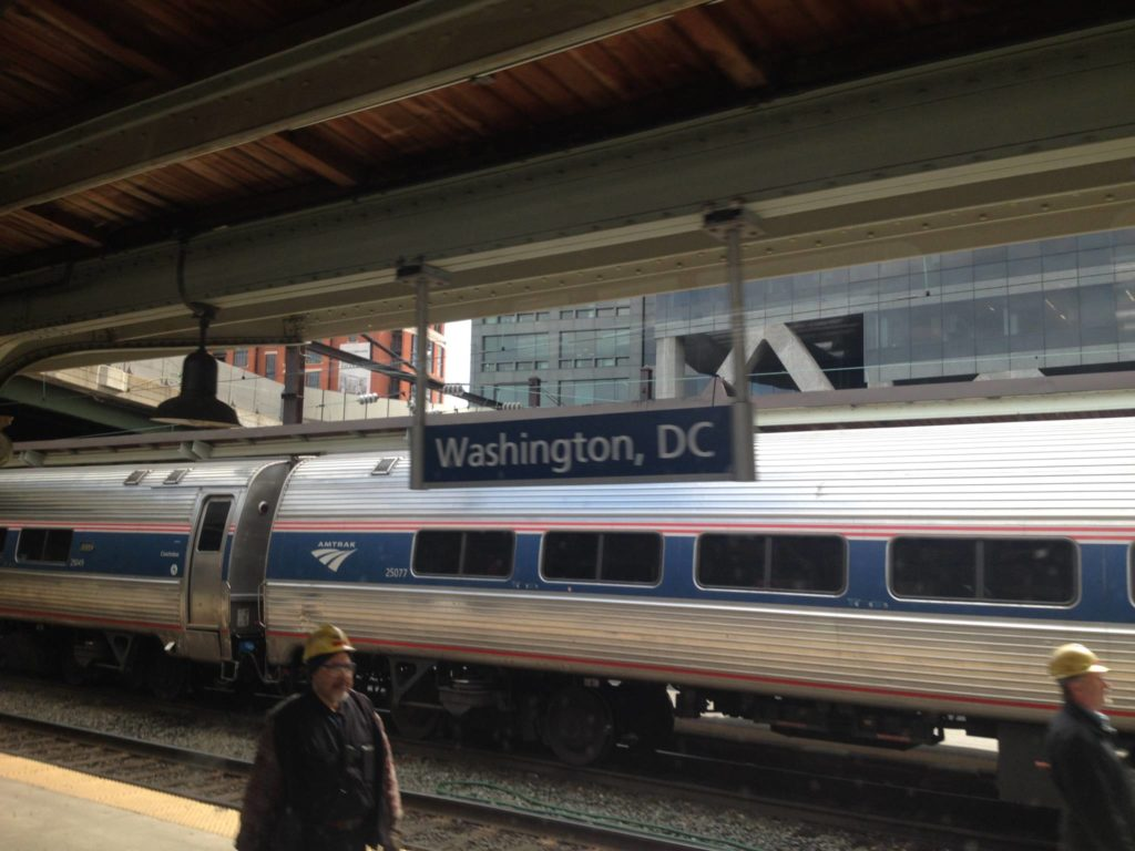 In treno verso Washington DC