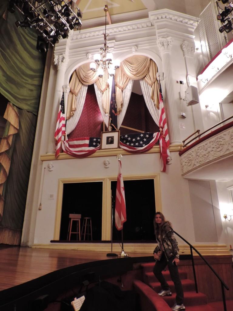 Il palco d'onore del Ford's Theatre dove fu ucciso Lincoln
