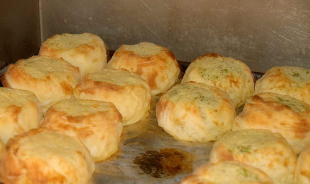 Zabar's: just cooked knish Yiddish