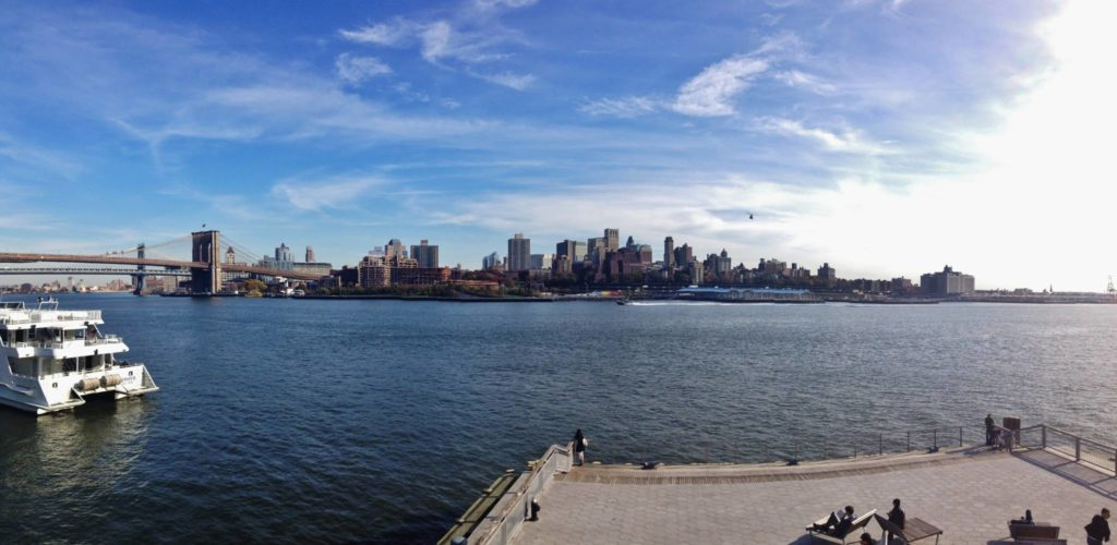 East River Waterfront Esplanade, view on Brooklyn