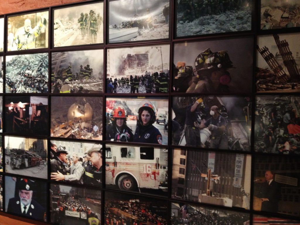 9/11, a wall of photos